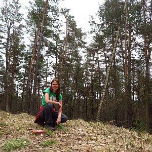 Iveta Válová na vrcholu Jiránkův kopec (1.4.2021)