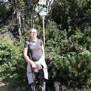 Blanka Holleschová na vrcholu Radegast (10.8.2019 9:43)