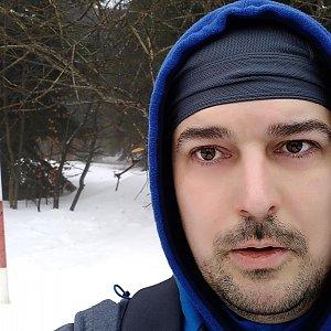 Petr Kowolowski na vrcholu Radegast (5.1.2018 12:33)