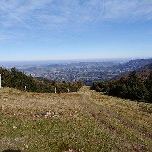 Ilona Mušálková na vrcholu Radegast (12.10.2019 10:50)