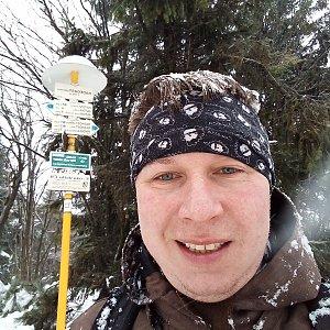 Jarda Gorka na vrcholu Radegast (4.1.2020 9:26)