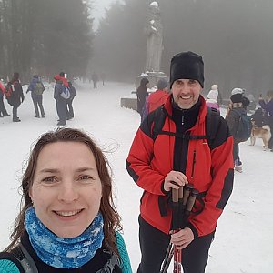 Marcela Kubíčková na vrcholu Radegast (11.1.2020 14:00)