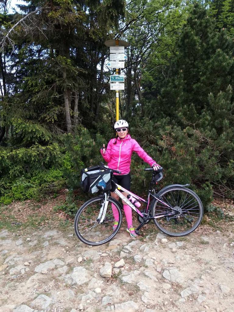 Andy na vrcholu Radegast (5.5.2018 12:00)