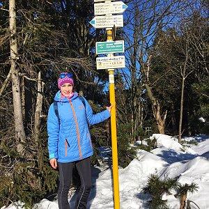 Renča na vrcholu Radegast (24.1.2020 12:50)