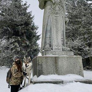 Veronika Tvrdoňová na vrcholu Radegast (28.1.2020 14:30)