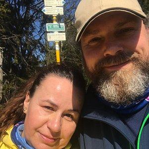 Marcela Motlochová na vrcholu Radegast (6.4.2020 13:46)