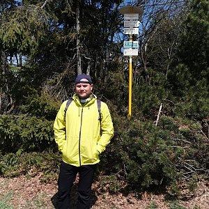 Tomáš Mucha na vrcholu Radegast (4.5.2020 12:45)