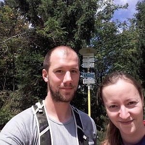 Paja&Tom na vrcholu Radegast (7.7.2018 14:10)