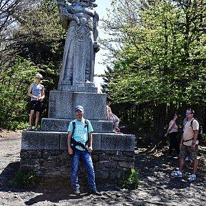 David Dudzik na vrcholu Radegast (13.6.2020 11:20)