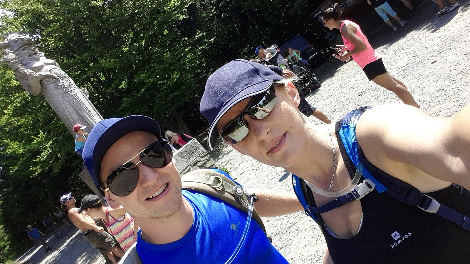 Michaela Karásková na vrcholu Radegast (29.7.2018 13:20)