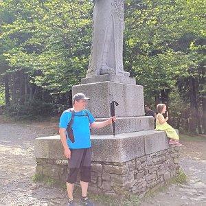 Roman Grebenar na vrcholu Radegast (29.7.2020 10:36)