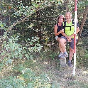 Fido a Myszka na vrcholu Radegast (19.8.2018 15:03)