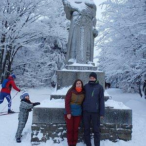 Vendula Kalocsányiová na vrcholu Radegast (16.12.2018 13:44)