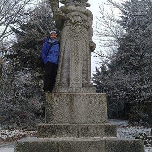 Jakub Špaček na vrcholu Radegast (17.12.2020 12:47)