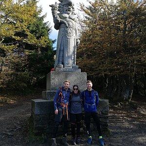 Tomáš Vašíček na vrcholu Radegast (25.10.2020 11:46)