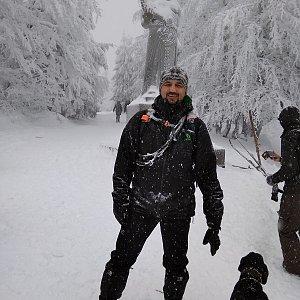 Kahys, Kahyska a Kahysčata na vrcholu Radegast (5.1.2019 12:38)