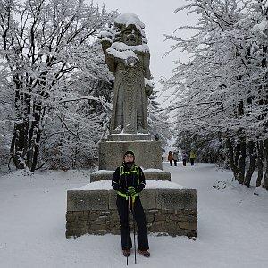 Štěpánka Losertová na vrcholu Radegast (12.1.2021 13:37)