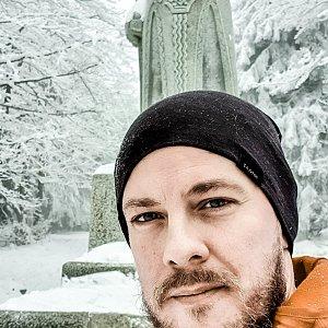 Martin Petřík na vrcholu Radegast (13.1.2021 14:30)