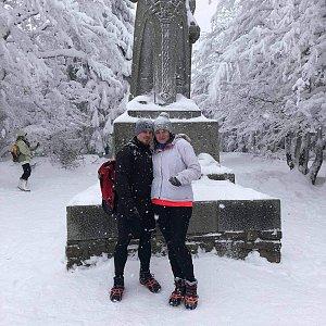 Tereza Holásková na vrcholu Radegast (16.1.2021 13:20)