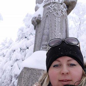 Marta Homolová na vrcholu Radegast (17.1.2021 10:02)