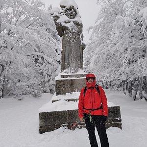 Vítězslav Vrána na vrcholu Radegast (16.1.2021 9:47)