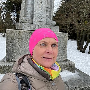 Magda na vrcholu Radegast (5.2.2021 12:45)