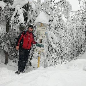 Jiří P na vrcholu Radegast (26.1.2019 12:58)