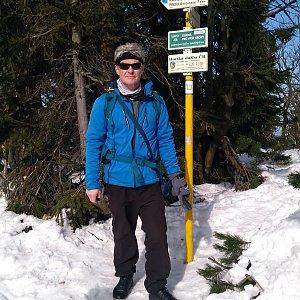 Jaroslav Macura na vrcholu Radegast (21.2.2021 12:28)