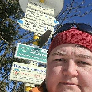 Lucie Hrošík Hejnalová na vrcholu Radegast (22.2.2021 11:16)