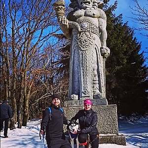 Nikol Podesvova na vrcholu Radegast (21.2.2021 12:30)