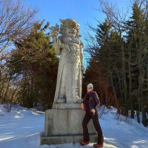 Pavlína Sýkorová na vrcholu Radegast (17.2.2019 11:02)