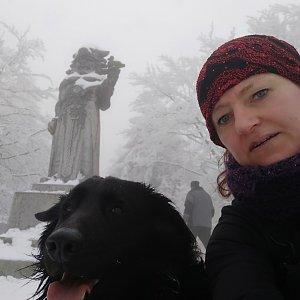 Ivana Urbánková na vrcholu Radegast (17.4.2021 11:40)