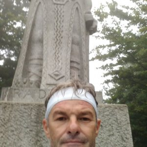 Jaroslav Macura na vrcholu Radegast (18.7.2021 5:35)