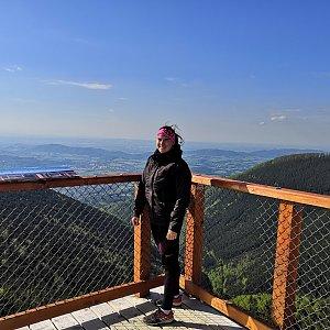 Estty na vrcholu Radegast (24.5.2019 20:38)