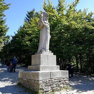 Jana F na vrcholu Radegast (9.9.2021 13:05)