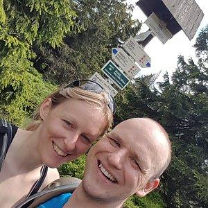 Michaela Karásková na vrcholu Sušina (27.6.2020 14:05)