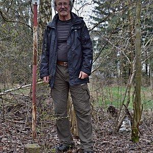 Jarda Vála na vrcholu Na Krni (1.5.2021)