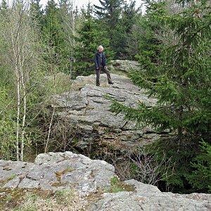 Jarda Vála na vrcholu Zadní Hradiště (1.5.2021 11:33)