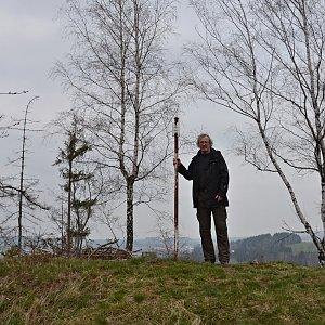 Jarda Vála na vrcholu Přední Hradiště (1.5.2021)