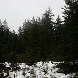 Bouřka na vrcholu Orel - J vrchol (27.1.2020 11:45)