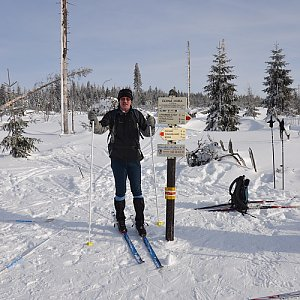 Jarda Vála na vrcholu Černá hora (29.1.2012 12:48)