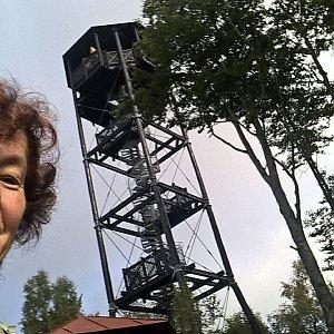 Anna na vrcholu Markoušovický hřeben (28.9.2021)