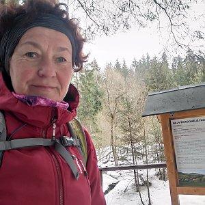 Anna na vrcholu Nejvýchodnější bod ČR (28.2.2021)