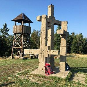 Jarek na vrcholu Stratenec (31.8.2019 8:50)