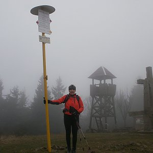 Hanka na vrcholu Stratenec (2.11.2019 11:42)
