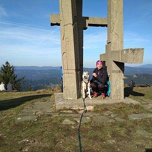 Katka na vrcholu Stratenec (4.11.2018 12:35)