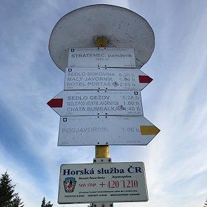 Tom Michna na vrcholu Stratenec (20.2.2021 16:44)
