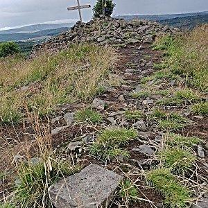 Pavel Martínek na vrcholu Velký Špičák (15.7.2021 14:00)