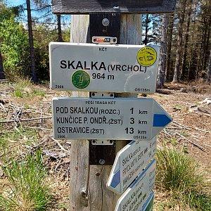 Lenka na vrcholu Skalka (6.6.2020 13:10)