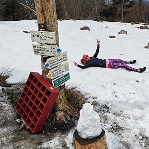 Michelle Sýkorová na vrcholu Skalka (24.4.2021 14:23)